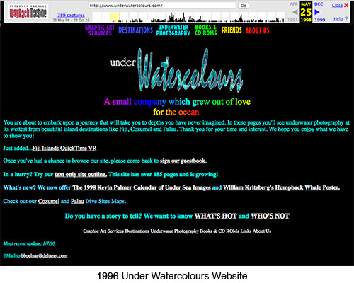 Under Watercolours 1996 Website