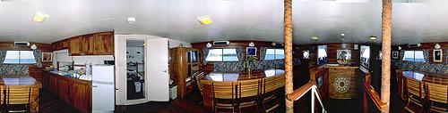 The galley on board the Nai'a